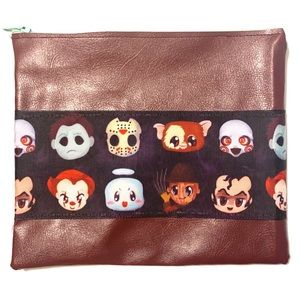 HORROR CUTIES FAUX LEATHER ZIP POUCH